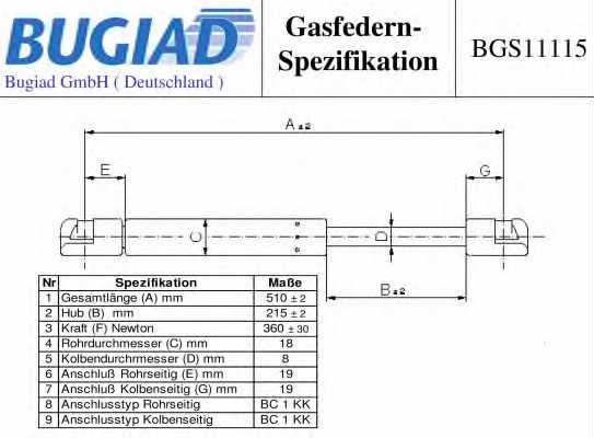BUGIAD BGS11115